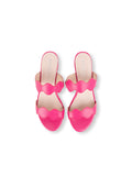 Womens Hot Pink Leather Palm Beach Scalloped Sandal 7