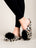 Womens Ivory Leopard Daisy Pouf Slipper 4 Alternate View