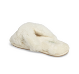 Womens Ivory Mt. Hood Shearling Slipper 2