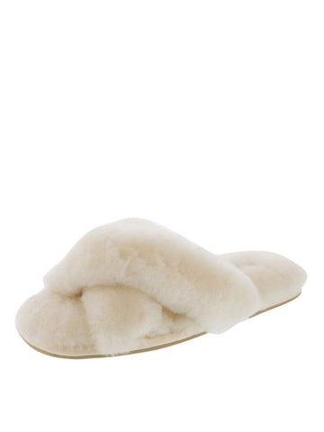Womens Ivory Mt. Hood Shearling Slipper