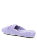 Womens Lavender Chloe Microterry Slipper 2