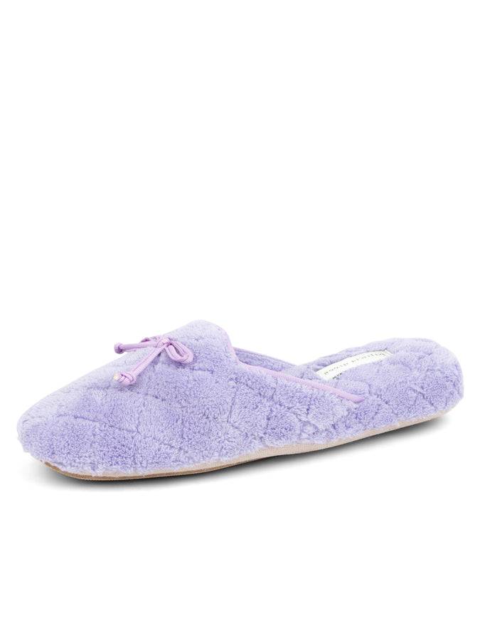 Womens Lavender Chloe Microterry Slipper