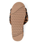 Womens Leopard Tahoe Single Strap Slipper 5