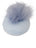 Womens Light Blue Daisy Pouf Slipper 4 Alternate View