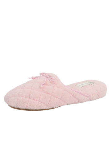 Womens Lt. Pink Chloe Microterry Slipper