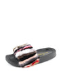 Womens Multi Stripe Foxy Slide