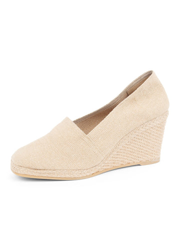Womens Natural Mallorca Square Closed Toe Espadrille