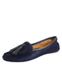 Womens Navy Haircalf Ricky Driving Moccasin