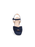 Womens Navy Selma Block Heeled Sandal 4