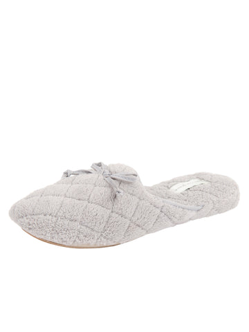 Womens Pearl Grey Chloe Microterry Slipper