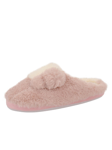 Womens Pink Patch Slipper