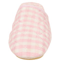 Womens Pink Sari Silk Check Slipper 2