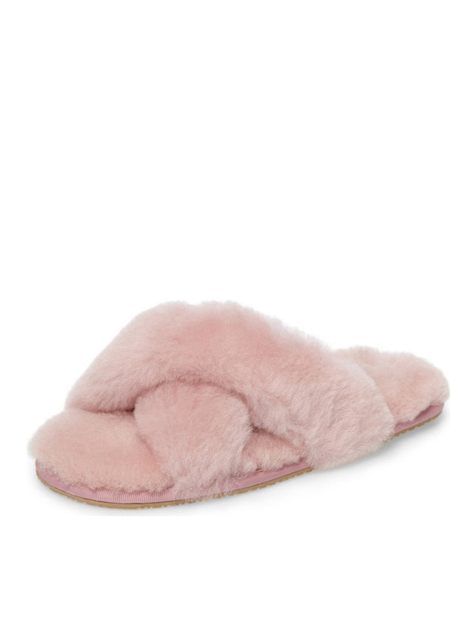 Womens Powder Pink Mt. Hood Shearling Slipper