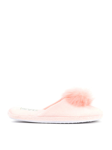 Womens Soft Pink Daisy Pouf Slipper 4 Alternate View