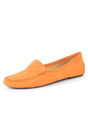 Womens Tangerine Jillian Driving Moccasin
