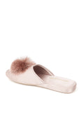 Womens Taupe Cathy Satin Slipper 2
