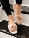 Womens Taupe Cathy Satin Slipper 4
