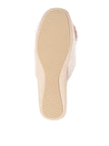 Womens Taupe Cathy Satin Slipper 5