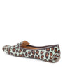 Womens Teal Blue Leopard Jillian Driving Moccasin 2