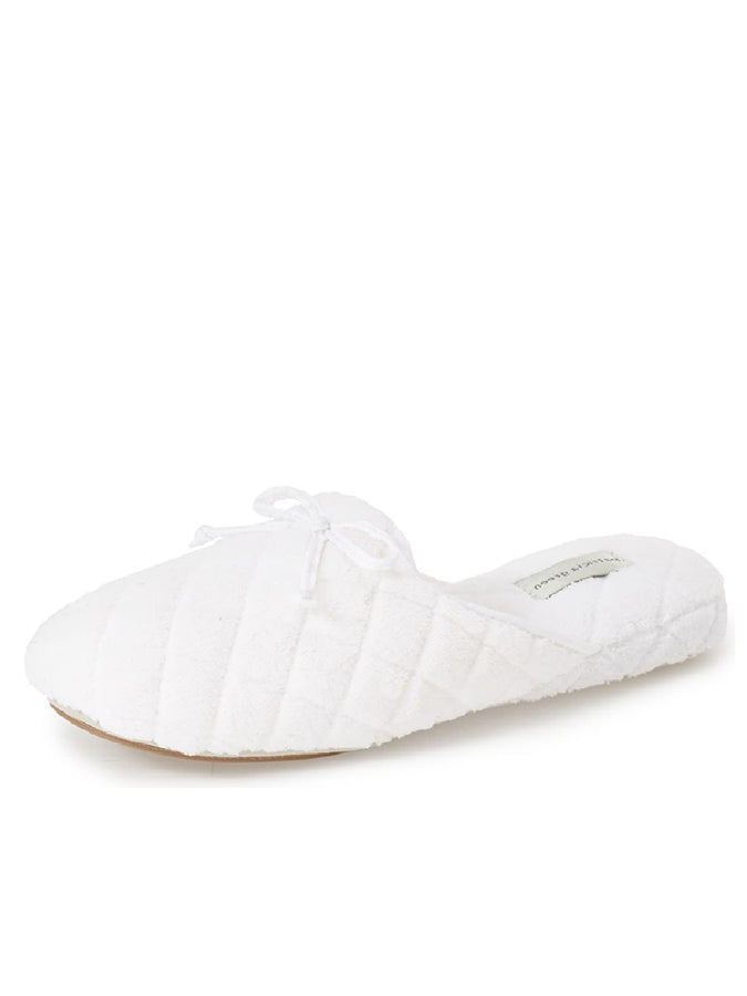 Womens White Chloe Microterry Slipper