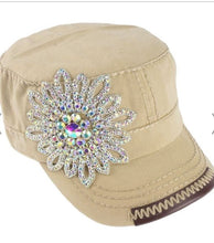 Load image into Gallery viewer, Crystal Accent Cadet Hat
