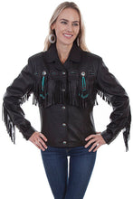 Load image into Gallery viewer, Scully Fringed Leather Western Jacket