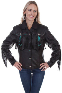 Scully Fringed Leather Western Jacket