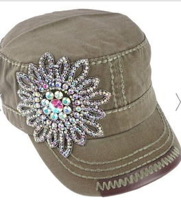 Crystal Accent Cadet Hat