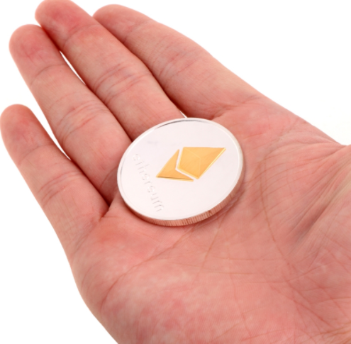 Gold Plated Ethereum Coin for Collection