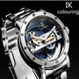 Myadstory - Amazing automatic mechanical watch double-sided hollow steel tide male table watch