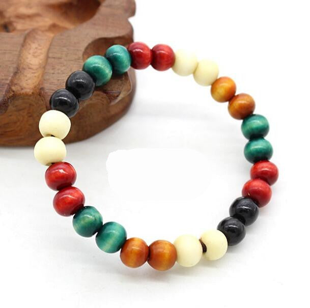 Fashion Bracelets Natural 6mm Rosewood Beads