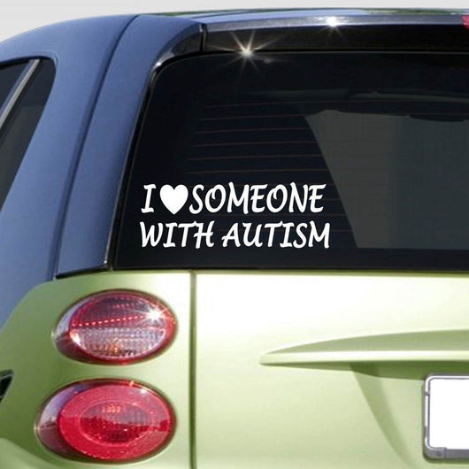 OnePerfectShop - I love someone with Autism Car Sticker