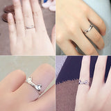 OnePerfectShop - Cute Cats Ear And Claw Open Ring Silver Ring ring