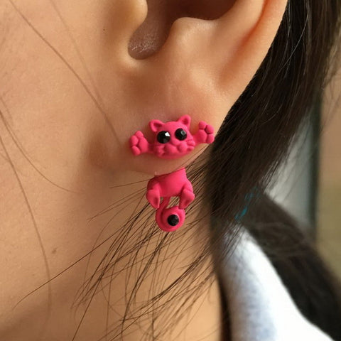 10 Color Fashion Lovely Classic Animal Korean  Cute Cat  Earrings For Girl Women Gift  Jewelry