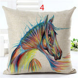 OnePerfectShop - High Quality Horse Home living Cotton Square Pillow Pillow