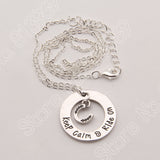 OnePerfectShop - Keep Calm & Ride on Horse Choker Necklace Necklace
