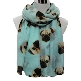 OnePerfectShop - Pug Dog Scarf scarf