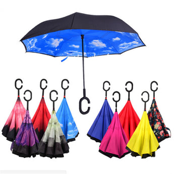 OnePerfectShop - Reverse Double Layer Inverted Umbrella umbrella