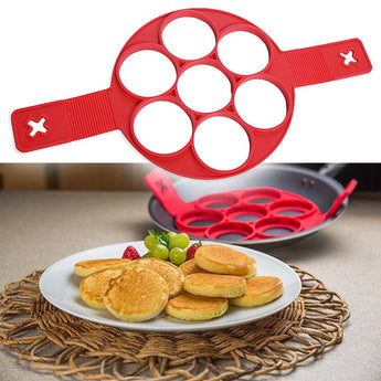 OnePerfectShop - Pancakes/ Eggs Silicone Moulds Kitchen