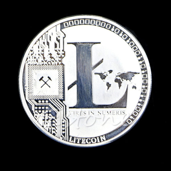 OnePerfectShop - Pure Silver Plated LTC Litecoin Coin coin