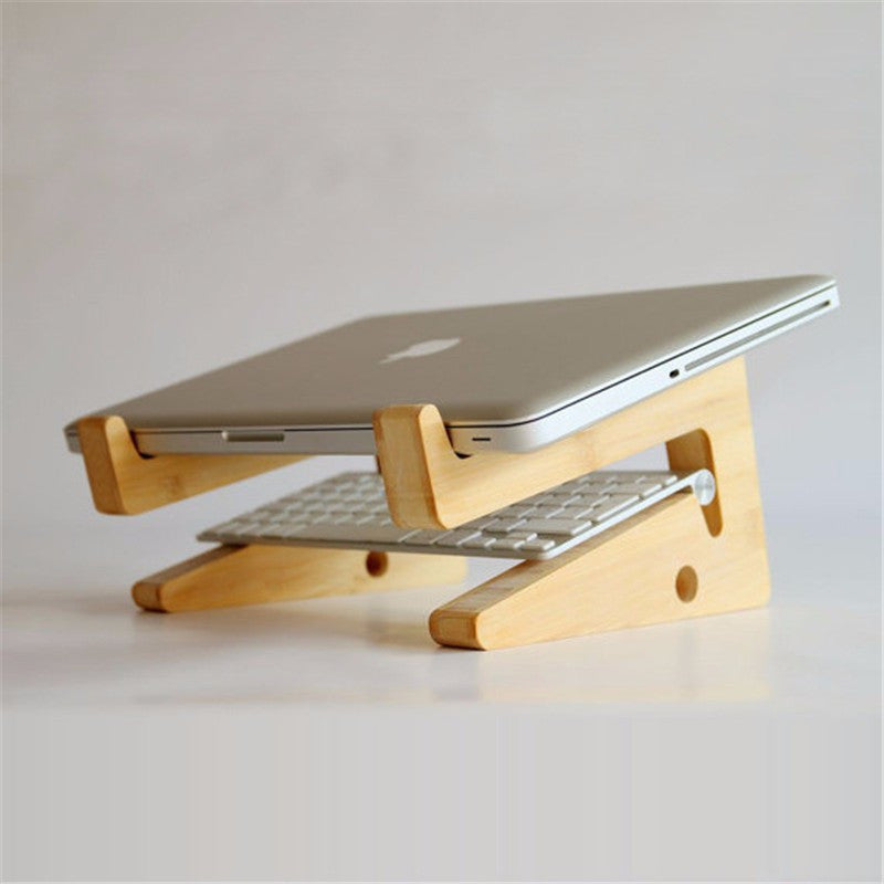 Elegant Wooden Stand for MacBook Air / Pro think-pad dell HP Wood Laptop