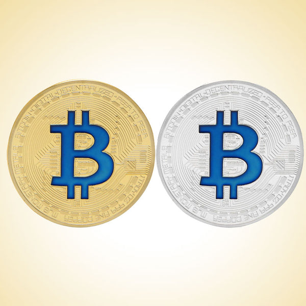 OnePerfectShop - Gold Plated Bitcoin Coin for Collection coin