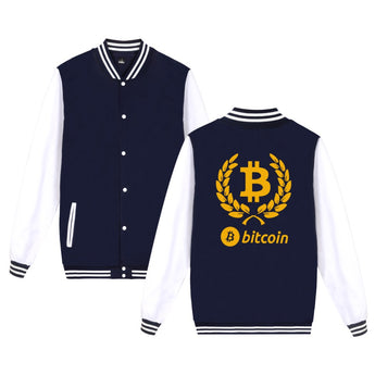 OnePerfectShop - Bitcoin Logo baseball jacket Jacket