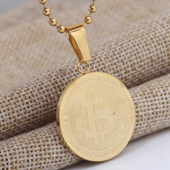 OnePerfectShop - Bitcoin Coin Pendants Necklaces Necklace