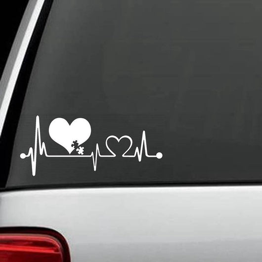 OnePerfectShop - Autism Heartbeat Car Sticker autism