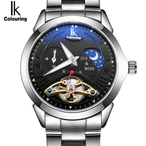 Myadstory - Coloring Moon Phase Function Luxury Watch Men watch