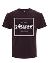 'Stronger Together' Cancer Campaign Tee - Eggplant