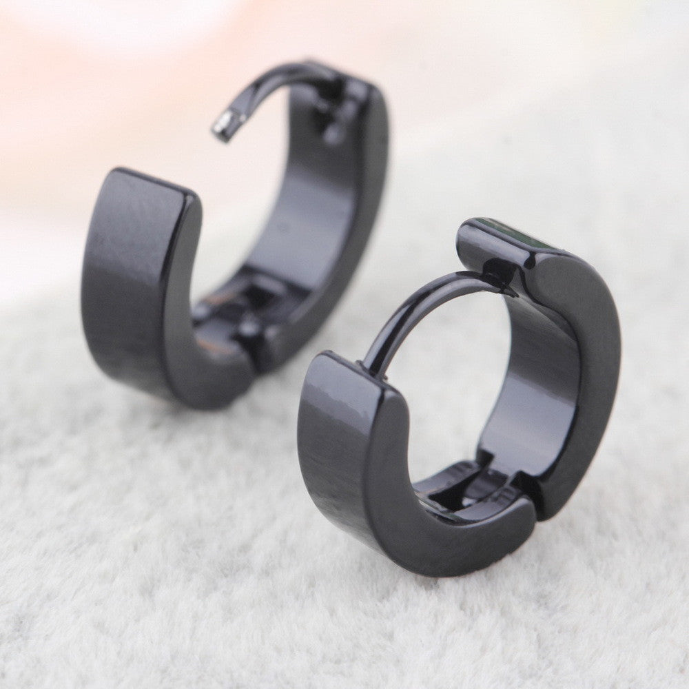 1 Pair Unique Cool Mens Stainless Steel Hoop Piercing Ear Earring Studs 2016 Hot Sale Fashion jewelry