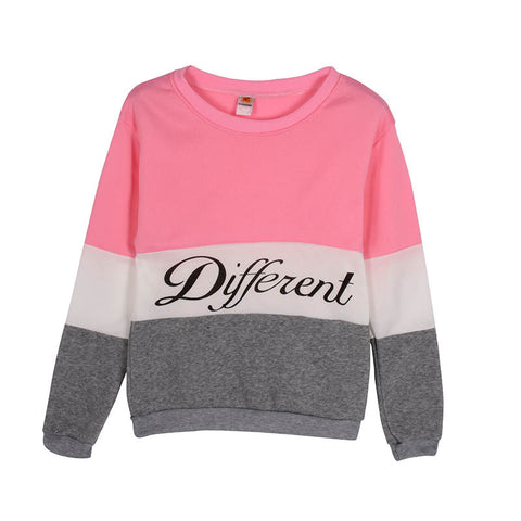 New Letter Printed Women Pullover Tops Sweat Shirt Blouse Sweater Thick Tracksuits Sudaderas Y8