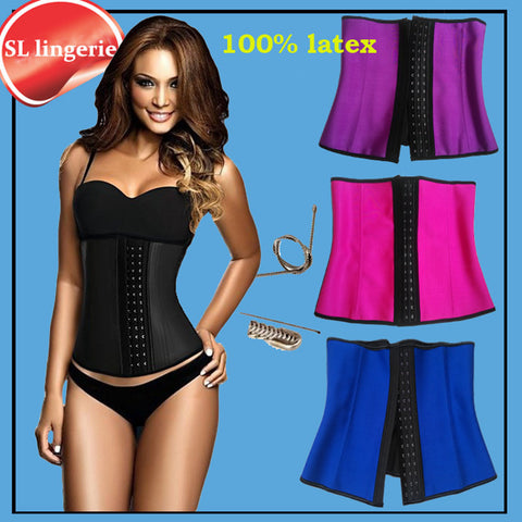 49e674355ac8b Waist Trainer Corsets and bustiers latex cincher girdles Shapewear slimming  belt body shaper rubber binder fitness